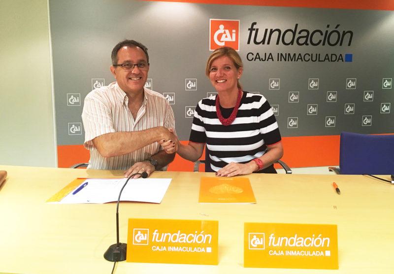 Firma del convenio con Cadis Huesca